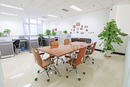swivel chairs: Beijing - May 17: office in a trading company,  China