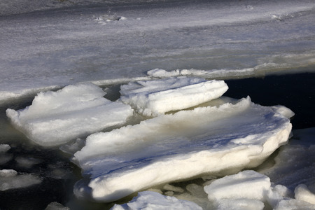 polar environment: sea and ice natural scenery in winter
