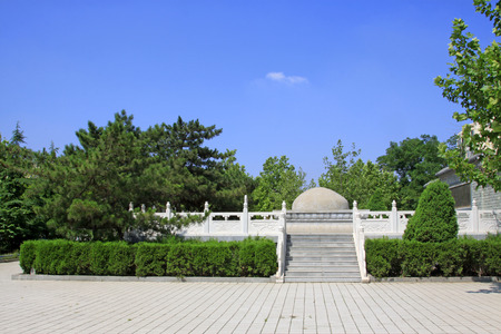 the founder: Luannan - June 14: PingJu founder Mr ChengZhaoCai tomb, on June 14, 2015, luannan county, hebei province, China