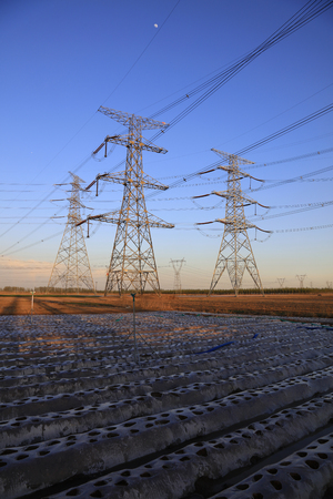 steel tower: high voltage electric power steel tower