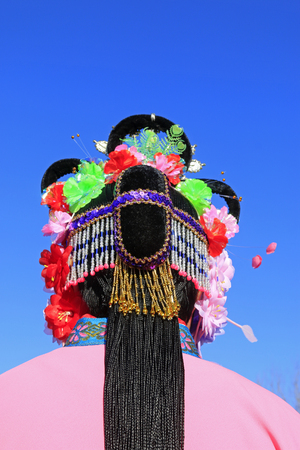 Close up to Chinese traditional style head wear