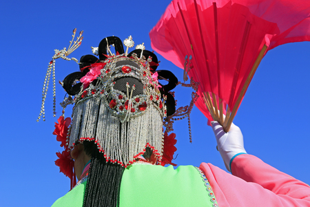 head wear: Close up to Chinese traditional style head wear