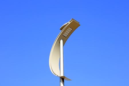 novel: Lights in blue sky background