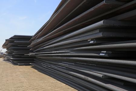 intensity: Steel plate in the cargo terminal