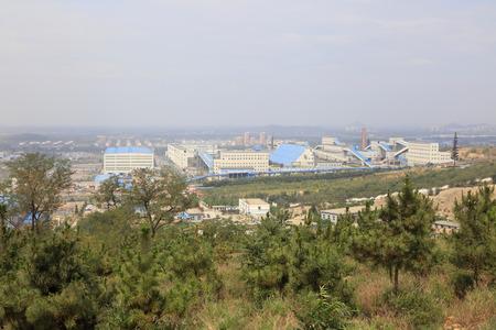 construction companies: Luan county - July 16: Yanshan iron ore factory building scenery, on July 16, 2016, luan county, hebei province, China