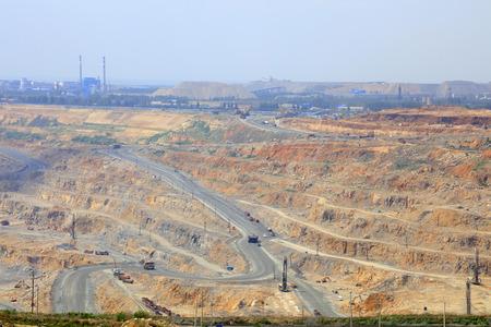 iron ore mining area landscape in Luan county, China Stock Photo