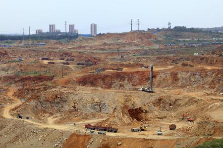 iron ore mining area landscape in Luan county, China Editorial