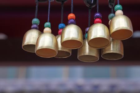 bell bronze bell: Bronze bell in a temple