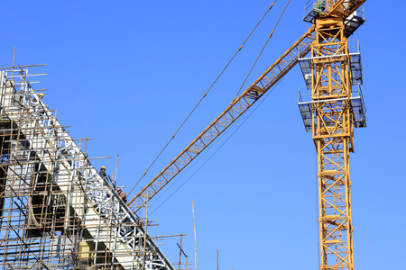 tower crane: tower crane in the construction site Editorial