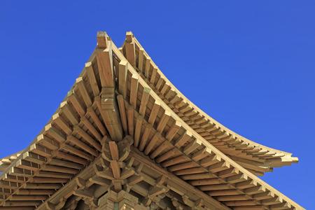tenon: pavilion angle wooden eaves