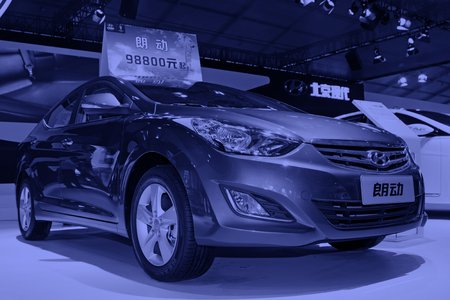 displacement: TANGSHAN - MAY 31: vehicle in the auto exhibition on may 31, 2014, Tangshan city, Hebei Province, China