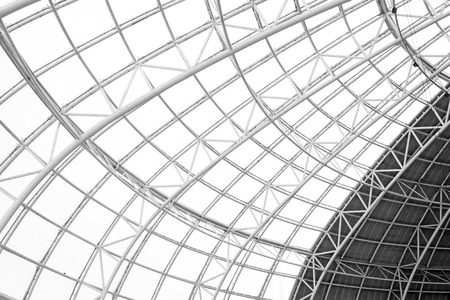steel structure: Large steel structure truss, closeup of photo Stock Photo