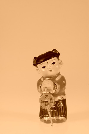 the arts is ancient: ancient Chinese children Clay sculpture, traditional arts and crafts