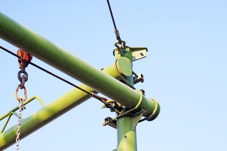 poleas: El marco de acero