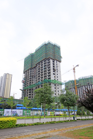 unfinished building: Unfinished building site