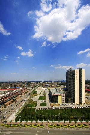 hebei: Luannan County - June 18: hospital building, June 18, 2015, Luannan County, Hebei Province, China