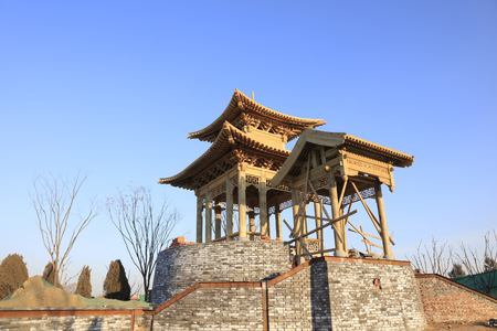 unfinished building: Chinese traditional landscape architecture pavilion