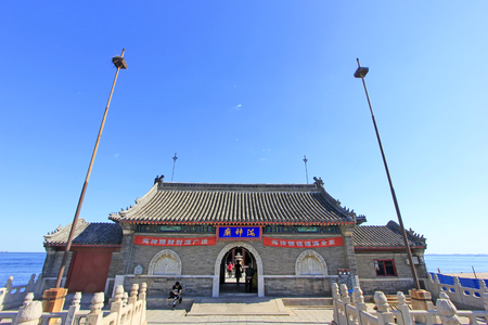 Qinhuangdao - September 12th: ancient tower building scenery, Qinhuangdao, Hebei Province, China, September 12th, 2015