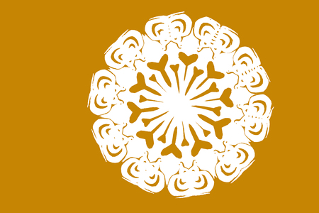 auspicious: traditional Chinese paper-cut works, closeup of photo Stock Photo