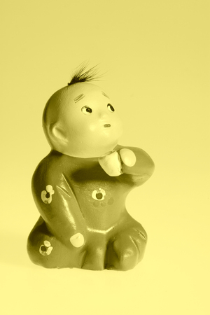 Children clay sculpture, traditional arts and crafts Stock Photo