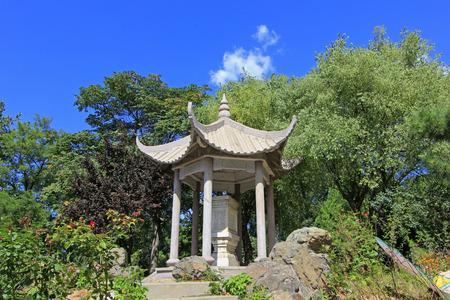 pavilion building landscape in ancient China
