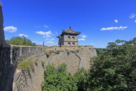 Shanhaiguan ancient city embrasured watchtower, China Editorial