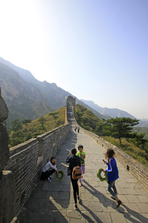 Great Wall, ancient Chinese architecture Editorial