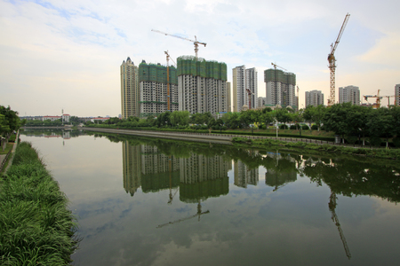 unfinished building: City building scenery, tangshan, China
