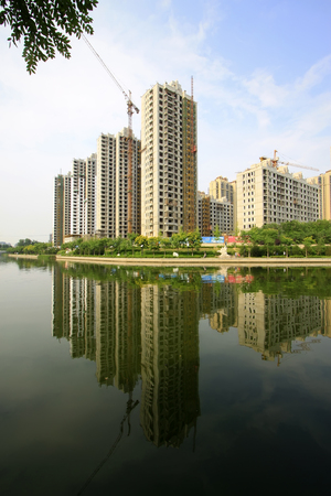 City building scenery, tangshan, China