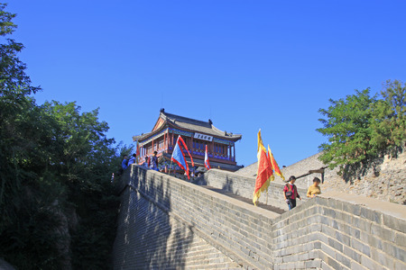 hebei: Qinhuangdao - September 12th: ancient tower building scenery, Qinhuangdao, Hebei Province, China, September 12th, 2015