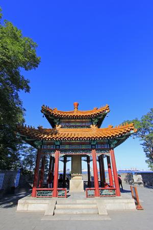 antiques: ancient China pavilion building landscape