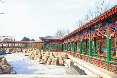 Chinese style promenade and rockery stone 版權商用圖片