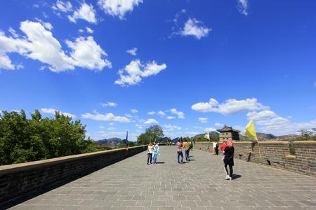 tourists on Shanhaiguan ancient city Editorial