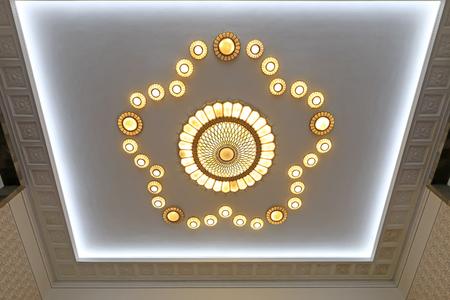 chandelier: Lamp modelling on ceiling