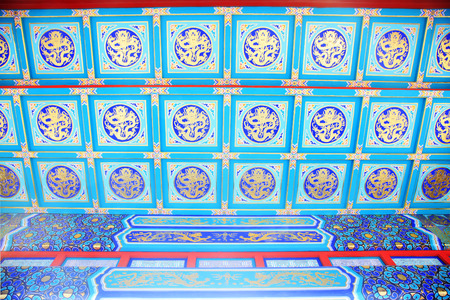 Chinese style painted ceiling 版權商用圖片