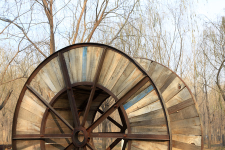 angle steel and board wheel structure Stock Photo