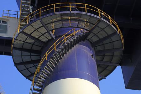 Crane revolving stairs
