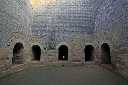 Chinas ancient city wall building landscape 版權商用圖片