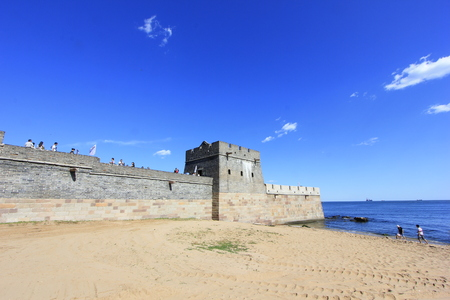 China ancient Great Wall building scenery Editorial