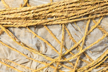 rope wrapped around the plastic