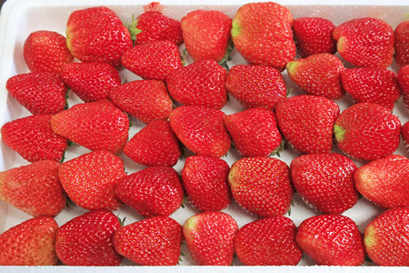 Strawberries piled together