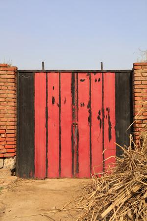Red iron door