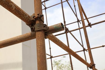 Oxidation rusty scaffolding Stock Photo