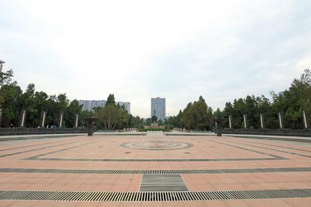 Musical fountain landscape view