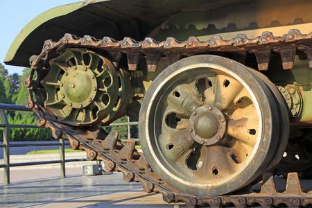 Tank wheel Stock Photo