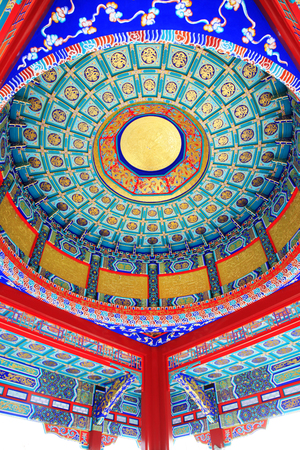 Chinese style painted dome
