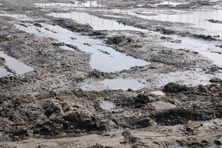 Muddy land Foto de archivo