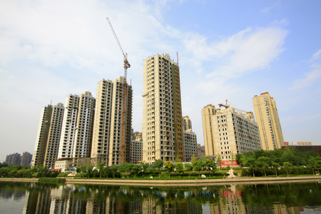 City building scenery, tangshan, China