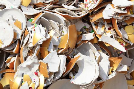 shattered ceramics
