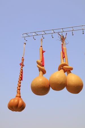 deformed gourd hangs in the air Stock Photo
